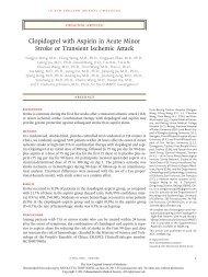 Clopidogrel with Aspirin in Acute Minor Stroke or Transient Ischemic ...