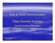 Risk & Crisis Communication Class Scenario Exercise