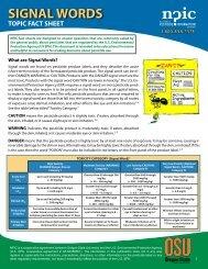 Signal Words - National Pesticide Information Center - Oregon State ...