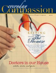 Spring 2012 - Volume 4: No 1 Doctors in our House - Hospice ...
