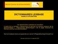DICTIONNAIRES LEXIBASE - Université de Rennes 1