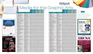 Media for the Graphic Arts - Digital Output Magazine