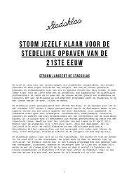 Persbericht Stadsklas - Stroom Den Haag