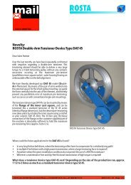 ROSTA Double-Arm Tensioner Device Type DAT 45 - ROSTA Inc.