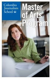 The MA Program - Columbia University Graduate School of Journalism