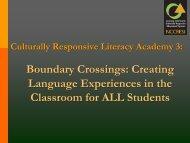 Culturally Responsive Literacy - NIUSI Leadscape
