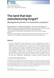 The land that lean manufacturing forgot? - World Management Survey