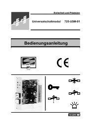 Sicherheit und Präzision Universalschaltmodul 725-USM-01 1 ... - Ikon
