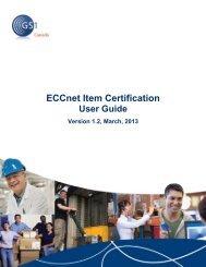 ECCnet Item Certification - GS1 Canada