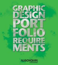 Graphic Design - Algonquin College