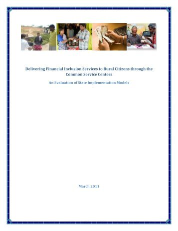 Delivering Financial Inclusion Services to Rural Citizens through the ...