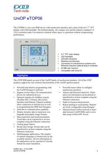 UniOP eTOP06 - Hiflex