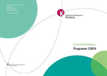 Programm 1/2014 Erwachsenenbildung - Katholische Erwachsenen ...