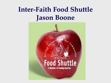 Inter-Faith Food Shuttle Jason Boone - Reuse Alliance