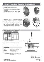 Flanschdruckmittler Baureihen D820-824-825 - Baumer