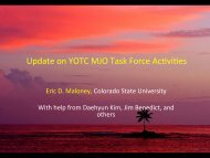 Update on YOTC MJO Task Force Acbvibes - cmmap