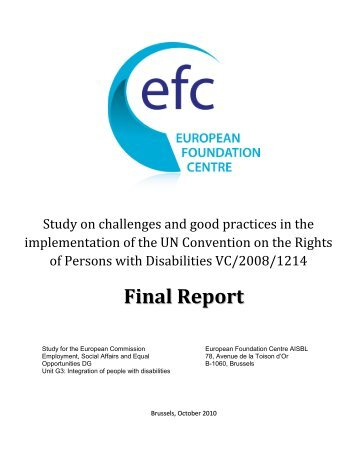 "Study on ""Challenges and good practices in the implementation of ..."