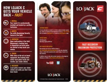 hoW lojaCk C Gets YoUr vehICle BaCk – fast!