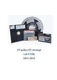 IT-policy/IT-strategi ved UNIK 2011-2015