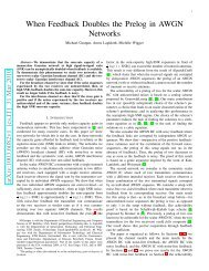 When Feedback Doubles the Prelog in AWGN Networks - Sites ...