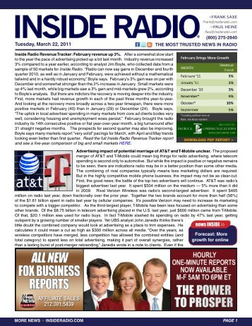 Tuesday, March 22, 2011 news INSIDE >>
