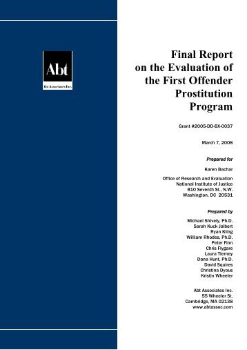 Final Report: Evaluation of the First Offender Prostitution Program