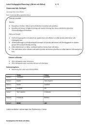 Lokal Pedagogisk Planering i (Idrott och Hälsa) 4 - 9 Ämnesområde ...