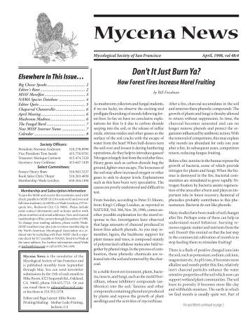 Mycena News - Mycological Society of San Francisco