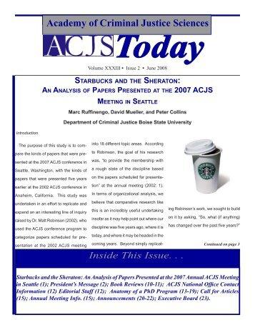 June 2008 - Academy of Criminal Justice Sciences