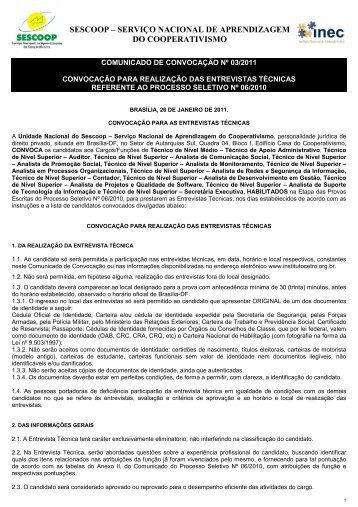 Minuta Convocação para Entrevista Técnica - OCB