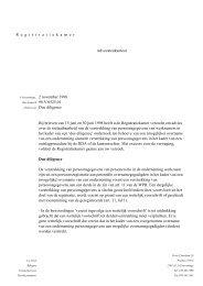 Verstrekken van personeelsgegevens voor overname van ...
