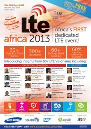Africa's FIRST dedicated LTE event!