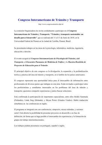 Congreso Interamericano de Tránsito y Transporte