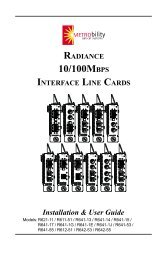 radiance 10/100mbps interface line cards