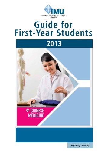 Student Handbook - International Medical University(IMU)