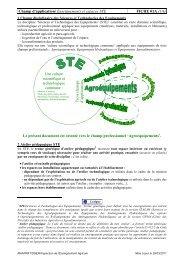 Champ d'application/ Enseignements et espaces STE ... - ChloroFil