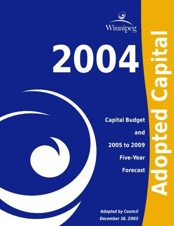 2004 Adopted Capital Budget - City of Winnipeg