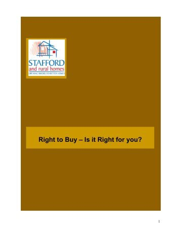 Right to Buy - Stafford and Rural Homes