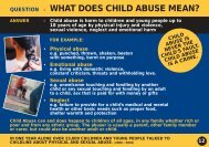 question - what does child abuse mean?