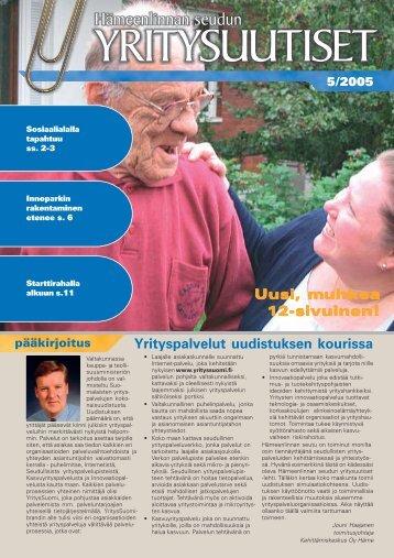 Uusi, muhkea 12-sivuinen! - Kehittämiskeskus Oy Häme