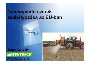 Növényvédő szerek szabályozása az EU-ban