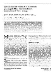 Surface-induced dissociation in tandem quadrupole mass ...