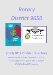 District Directory 2013-2014 - Rotary District 9650