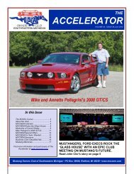 The Accelerator - February 2010 - Mustang Owners Club of ...