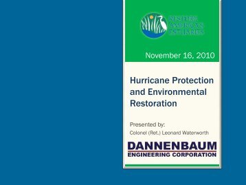 Hurricane Protection and Environmental Restoration - Restore ...