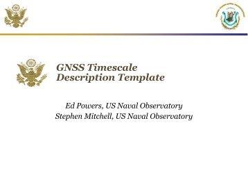 GNSS Timescale Description Template
