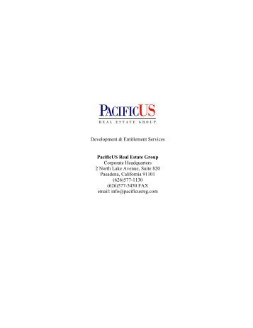 Development & Entitlement Services Brochure - PacificUS Real ...