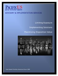 advisory & implementation services - PacificUS Real Estate Group