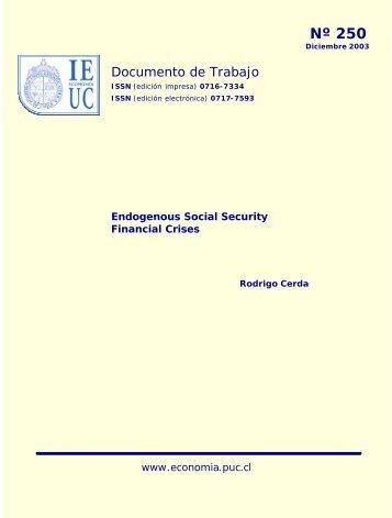 Nº 250 - Instituto de Economía - Pontificia Universidad Católica de ...