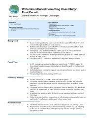 Watershed-Based Permitting Case Study - Ecosystem Marketplace